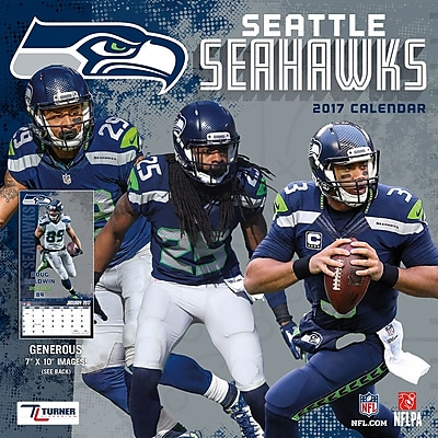 Turner Licensing Seattle Seahawks 2017 Mini Wall Calendar (17998040578) 2518799