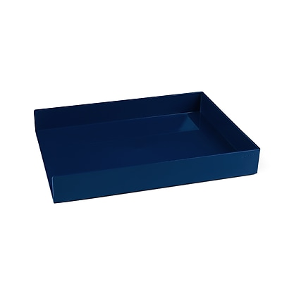 Poppin Letter Tray, Single, Navy, 4 Pack (106312)