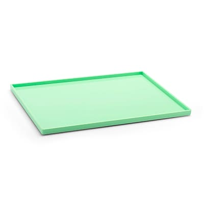 Poppin Slim Tray, Mint, Large, 4 Pack (106306)