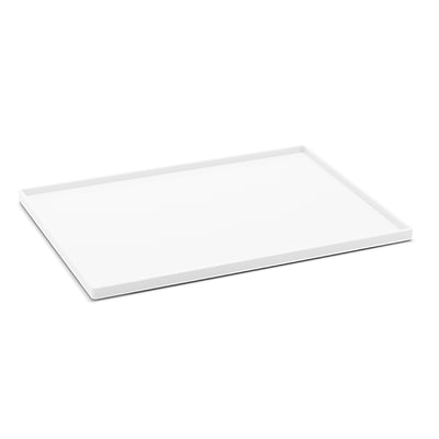 Poppin Slim Tray, White, Large , 4 Pack (106309)