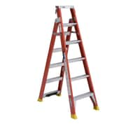 Werner 6 ft. H Fiberglass 2-in-1 Step and Extension Ladder (DP6206)