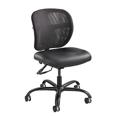 Safco 3491BV Uber Series Big /& Tall Swivel//Tilt Mid Back Chair Vinyl Black