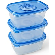 Glad Food Storage Containers, Deep Dish, 64 Ounce, 3 Containers (70045)