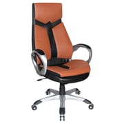 Boraam 97918 Jacob Upholstered Office Chair, Black and Sienna Brown