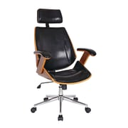 Boraam 97915 Lucas Upholstered Desk Chair, Brown