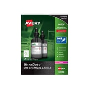 """Avery UltraDuty Laser Specialty Labels, 2"""" x 2"""", White, 12 Labels/Sheet, 50 Sheets/Pack (60506)"""