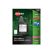 """Avery UltraDuty Laser Specialty Labels, 4"""" x 4"""", White, 4 Labels/Sheet, 50 Sheets/Pack (60504)"""