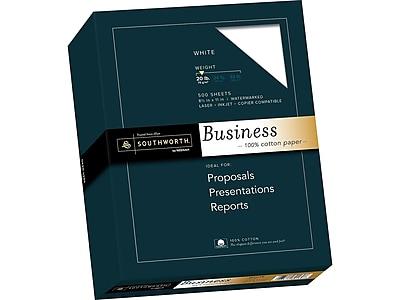 "Southworth 8.5""W x 11""L Business Paper, 20 lbs., Wove Finish, 500/Box (13C)"