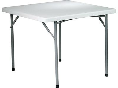 "Work Smart Folding Table, 36"" x 36"", Gray (BT36)"
