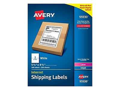 picture regarding Avery Printable Stickers identified as Avery World wide web Laser/Inkjet Delivery Labels, 5 1/2\