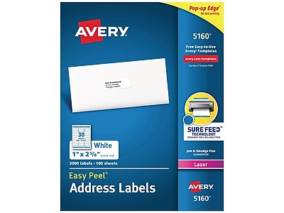 Avery Easy Peel Laser Address Labels, 1