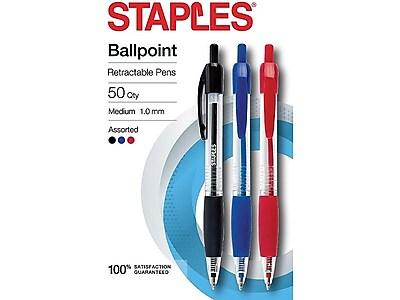 Brand New Lot of 100 pcs wholesale medium tip retractable pens