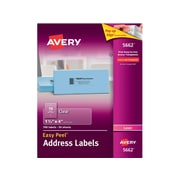 """Avery Easy Peel Laser Address Labels, 1 1/3"""" x 4"""", Clear, 14 Labels/Sheet, 50 Sheets/Box (5662)"""