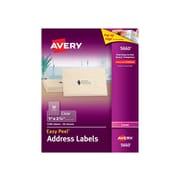"Avery Easy Peel Laser Address Labels, 1"" x 2 5/8"", Clear, 30 Labels/Sheet, 50 Sheets/Box (5660)"