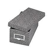 Globe-Weis Index Card File Box, Black Agate, 1000 Card Capacity (GLW 93 BLA)