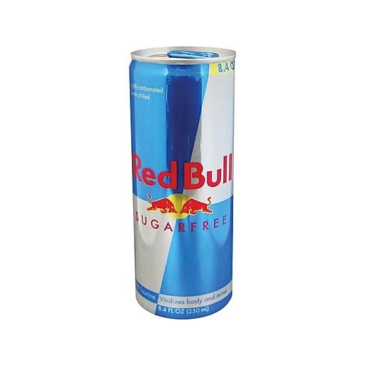 Red Bull Sugarfree Original Energy Drink, 8.4 Fl. Oz., 24/Carton (RBD122114)