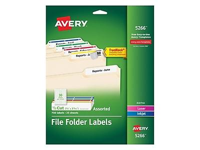 Avery Laser/Inkjet File Folder Labels, 2/3