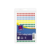 """Avery Hand Written Color Coding Labels, 1/4"""" Dia., Assorted Colors, 192 Labels/Sheet, 4 Sheets/Pack (5795)"""