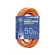 GE Indoor/Outdoor 50' General Purpose Extension Cord, 1-Outlet, Orange (99599)