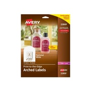 "Avery Print-to-the-Edge Laser Specialty Labels, 3"" x 2 1/4"", White, 9 Labels/Sheet, 10 Sheets/Pack (22809)"