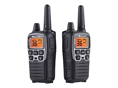 Midland X-TALKER T71VP3 Two-Way Radio, Black, Pair