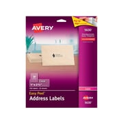 "Avery Easy Peel Laser Address Labels, 1"" x 2 5/8"", Clear, 30 Labels/Sheet, 25 Sheets/Pack (5630)"