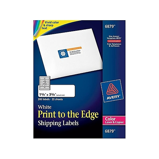 Avery Print-to-the-Edge Laser Shipping Labels, 1 1/4