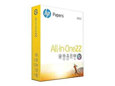 "HP All-In-One22 8.5"" x 11"" Multipurpose Paper, 22 lbs, 96 Brightness, 500/Ream (207010)"
