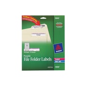 "Avery Laser/Inkjet File Folder Labels, 2/3"" x 3 7/16"", Purple, 30 Labels/Sheet, 25 Sheets/Pack (5666)"