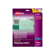 "Avery Easy Peel Inkjet Shipping Labels, 2"" x 4"", Clear, 10 Labels/Sheet, 25 Sheets/Pack (8663)"