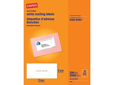 Blank White Permanent Adhesive Labels for Laser//Ink Jet Printer 4 x 5-4 Per Page | 100 Labels