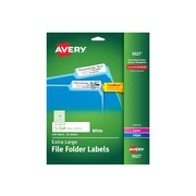 "Avery Extra Large Laser/Inkjet File Folder Labels, 15/16"" x 3 7/16"", White, 18 Labels/Sheet, 25 Sheets/Pack (5027)"