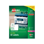 """Avery Durable Laser Identification Labels, 2"""" x 2 5/8"""", White, 15 Labels/Sheet, 50 Sheets/Box (6578)"""