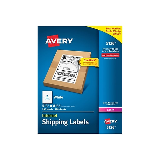 Avery Internet Laser Shipping Labels, 5 1/2