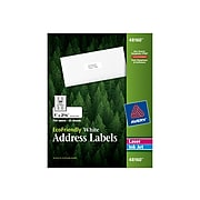 "Avery EcoFriendly Laser/Inkjet Address Labels, 1"" x 2 5/8"", White, 30 Labels/Sheet, 25 Sheets/Box (48160)"