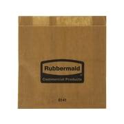 Rubbermaid Waxed Paper Sanitary Disposal Liners, Brown, 250/Carton (FG6141000000)