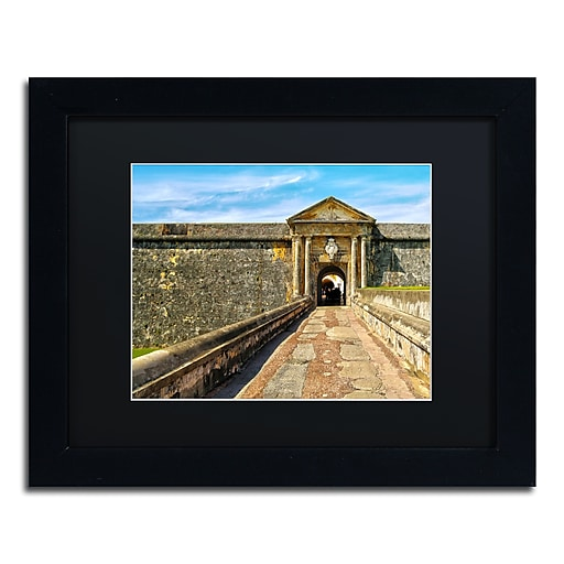 "Trademark Fine Art CATeyes 'Castillo San Felipe del Morro 8' 11"" x 14"" Matted Framed (190836034956)"