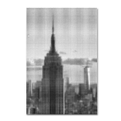 "Trademark Fine Art Philippe Hugonnard 'Pixels Print NYC' 12"" x 19"" Canvas Stretched (886511951136)"