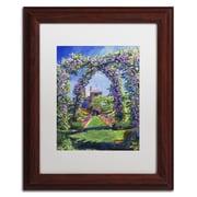 "Trademark Fine Art David Lloyd Glover 'English Rose Arbor' 11"" x 14"" Matted Framed (190836225248)"