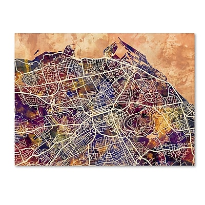 Trademark Fine Art Michael Tompsett 'Edinburgh Street Map' 14
