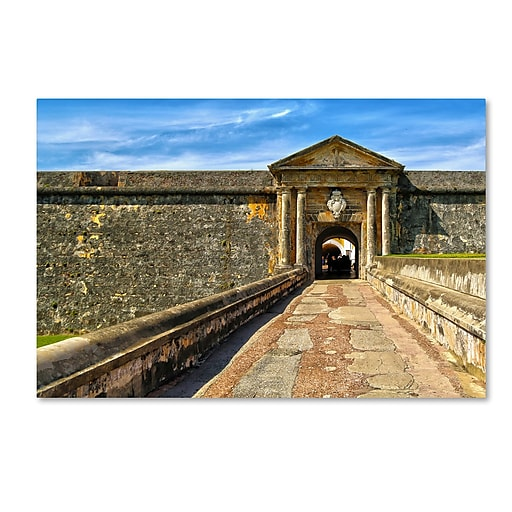 "Trademark Fine Art CATeyes 'Castillo de San Felipe del Morro 8' 12"" x 19"" Canvas Stretched (190836034994)"