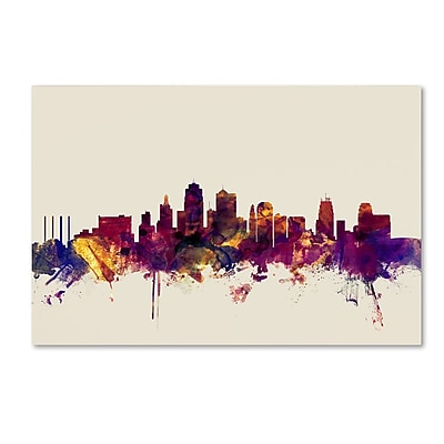 Trademark Fine Art Michael Tompsett 'Kansas City Skyline' 12