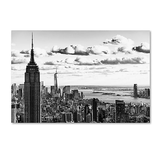 "Trademark Fine Art Philippe Hugonnard 'NY Cityscape' 12"" x 19"" Canvas Stretched (190836048359)"