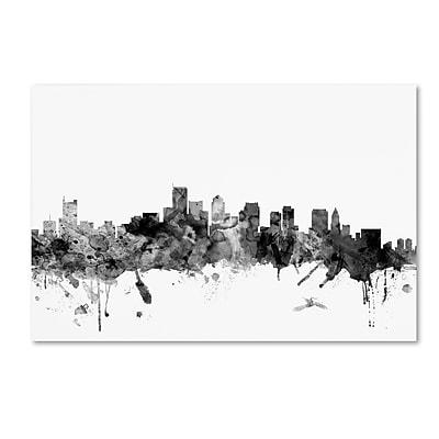 Trademark Fine Art Michael Tompsett 'Boston MA Skyline B&W' 12