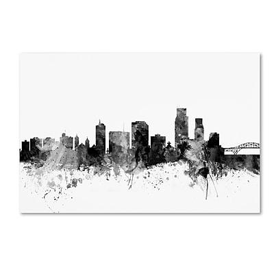 Trademark Fine Art Michael Tompsett 'Corpus Christie TX Skyline B&W' 12
