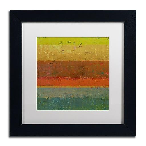 "Trademark Fine Art Michelle Calkins 'Gold Line' 11"" x 11"" Matted Framed (190836073719)"