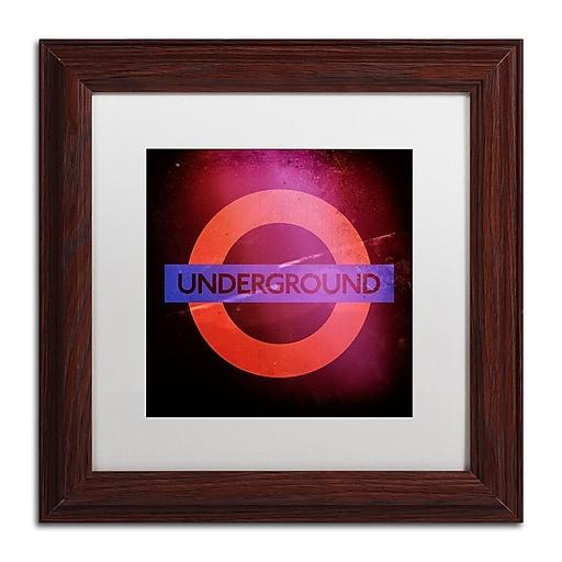 "Trademark Fine Art Philippe Hugonnard 'Subway City Art London' 11"" x 11"" Matted Framed (886511952713)"