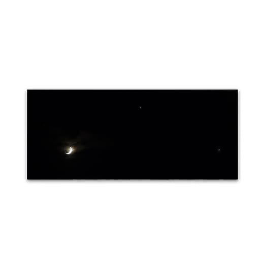 "Trademark Fine Art Kurt Shaffer 'New Moon, Venus, Jupiter and More' 10"" x 24"" Canvas Stretched (190836004157)"