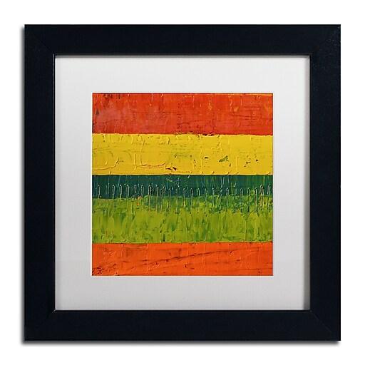 "Trademark Fine Art Michelle Calkins 'Fence' 11"" x 11"" Matted Framed (190836100439)"