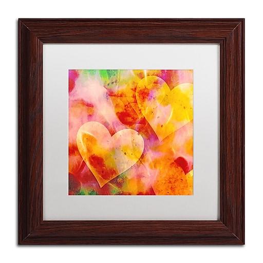 """Trademark Fine Art Adam Kadmos 'Sweethearts' 11"""" x 11"""" Matted Framed (190836066858)"""